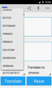 European Translator apk screenshot