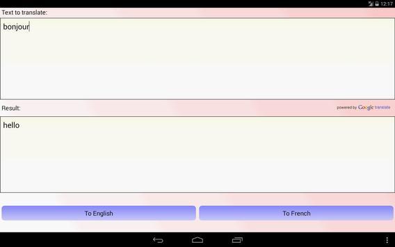French English Translator apk screenshot