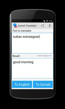Somali English Translator apk screenshot