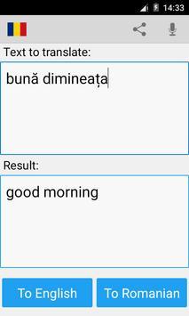Romanian English Translator apk screenshot