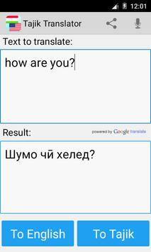 Tajik English Translator poster
