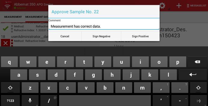 Anton Paar Sign App apk screenshot