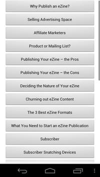 Audiobook - Ezine Marketing apk screenshot