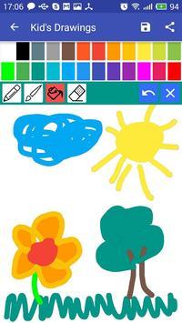 Kid's drawing apk screenshot