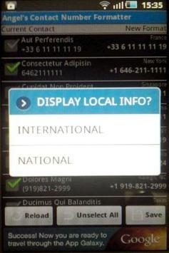 Contact Number Formatter apk screenshot
