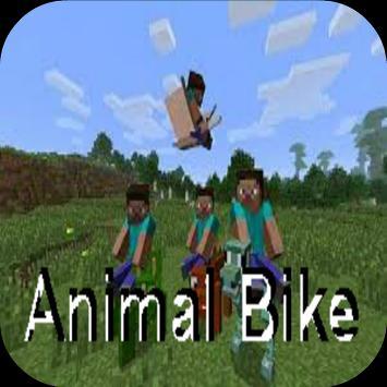 Animal Bike Mod for Minecraft poster