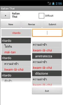 Italian Thai Dictionary apk screenshot