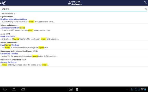 Acura iManual apk screenshot