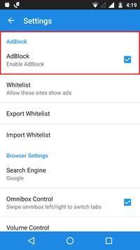 AdBlocker Lite Browser apk screenshot