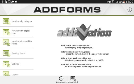 AddForms apk screenshot