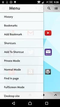 Shadow Browser apk screenshot