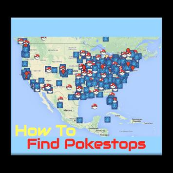 How To Find Pokestop Map poster