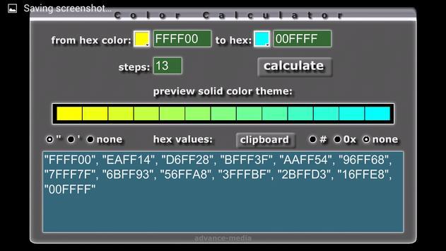 HTML Color Calculator poster