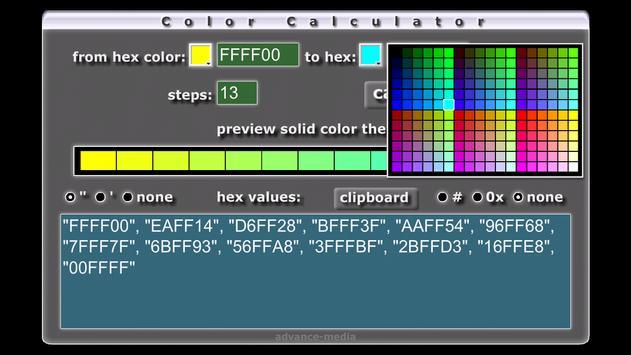 HTML Color Calculator apk screenshot