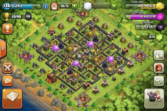 Base Map Clash of Clans Guide poster