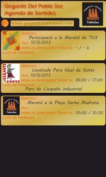 Calendari Gegants PobleSec apk screenshot
