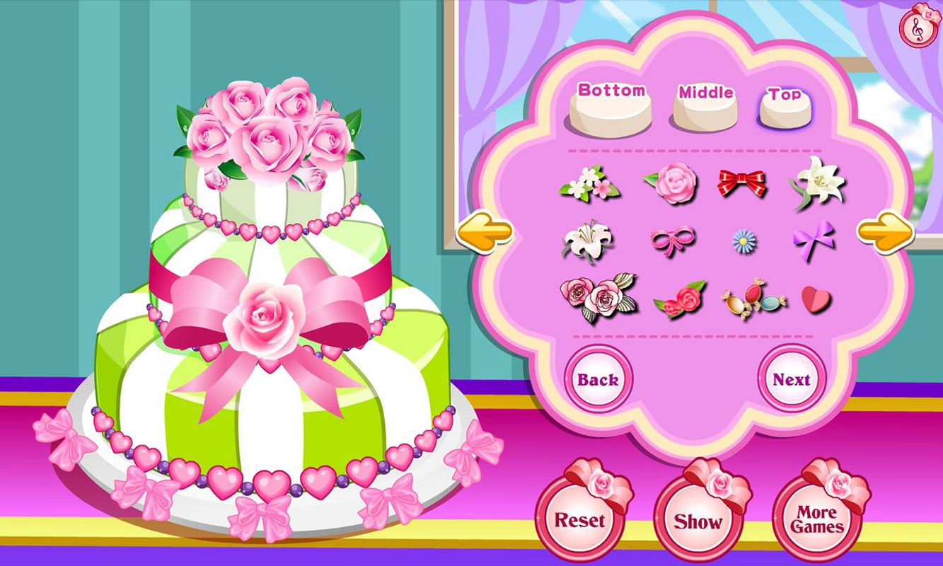 Create Your Own Wedding Cake Game