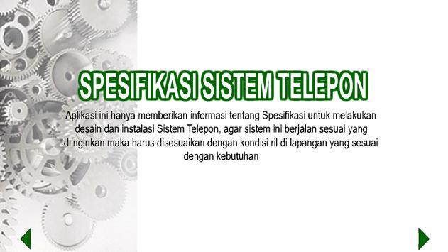 Spek. Teknis Sistem Telepon poster
