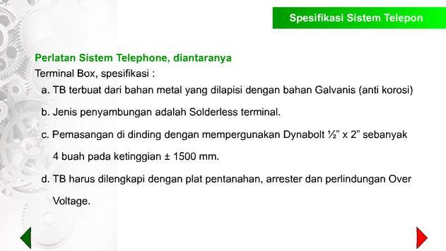Spek. Teknis Sistem Telepon apk screenshot