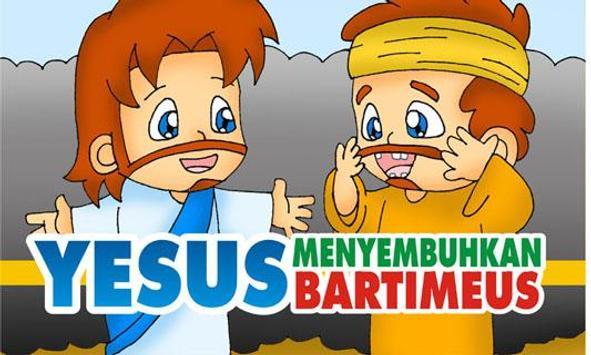 YESUS Menyembuhkan Bartimeus poster