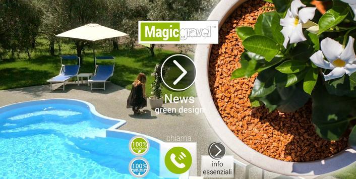Magicgravel Green Design poster