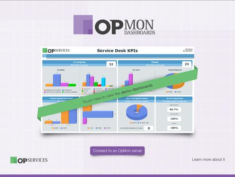 OpMon Dashboard Presenter poster