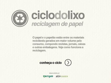 Ciclo do Lixo - Papel poster