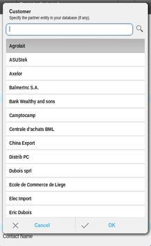 OpenERP CRM Sales apk screenshot