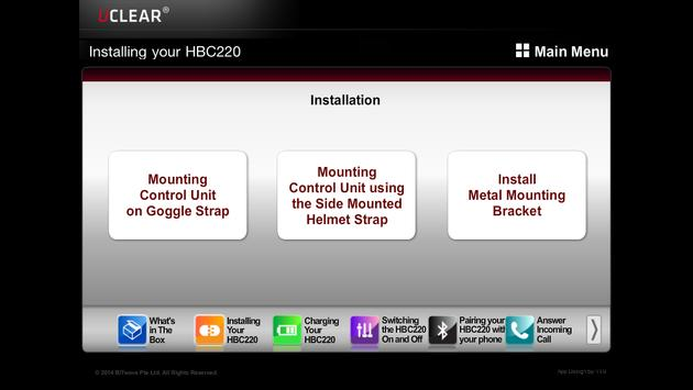 UCLEAR HBC220 instruction apk screenshot