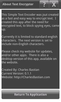 Text Encrypter apk screenshot
