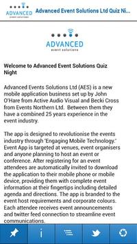 Advanced Event Solutions poster