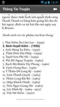 (Kim Dung) Bích Huyết Kiếm apk screenshot