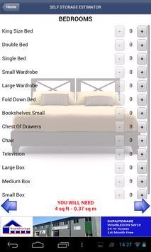 Self Storage Estimator apk screenshot