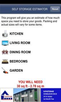 Self Storage Estimator poster