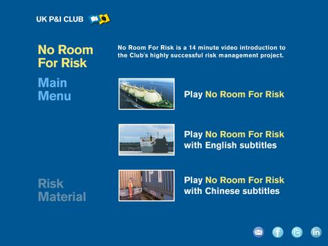 UK P&I Club - No Room For Risk poster