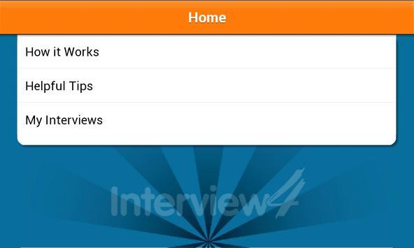 Interview4 Mobile apk screenshot