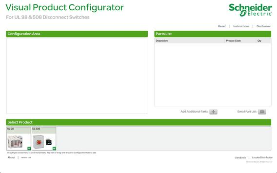 Disconnect Switch Configurator poster