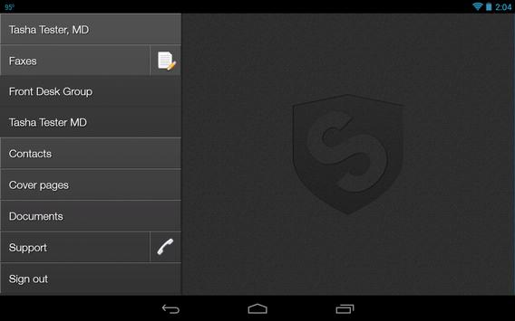 Sfax - Secure faxing on the go apk screenshot