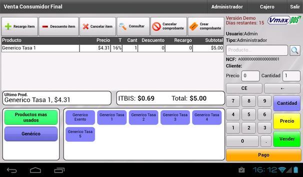VmaxPOS (DOM) apk screenshot