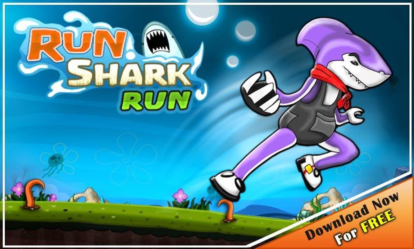 run shark run running game apk adventure game run shark run running game poster