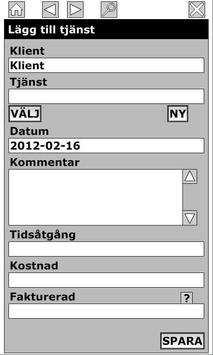 Tidredovisning apk screenshot