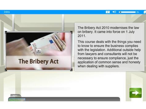 Bribery Act e-Learning apk screenshot