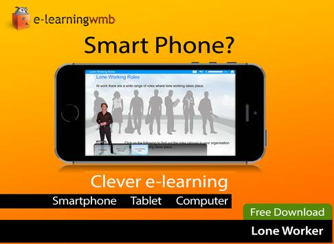 Lone Worker e-Learning poster