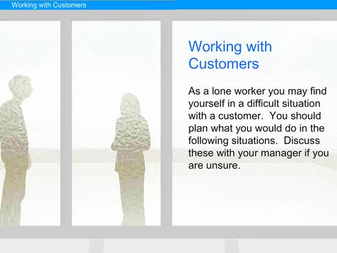 Lone Worker e-Learning apk screenshot