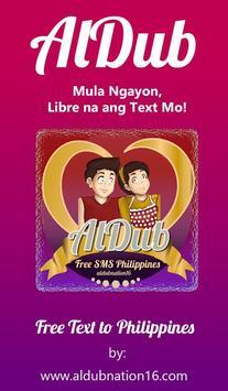 Aldub: Free SMS Philippines poster