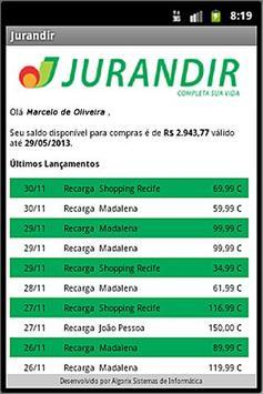 Cartão Jurandir apk screenshot
