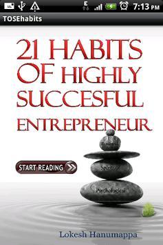 21 Entrepreneurial Habits~Free poster