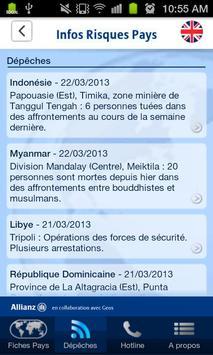Infos Risques Pays apk screenshot