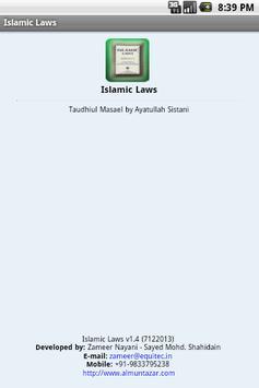 Islamic Laws apk screenshot