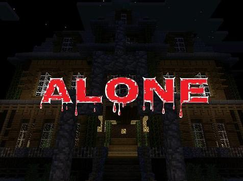Alone MCPE Modded Map poster